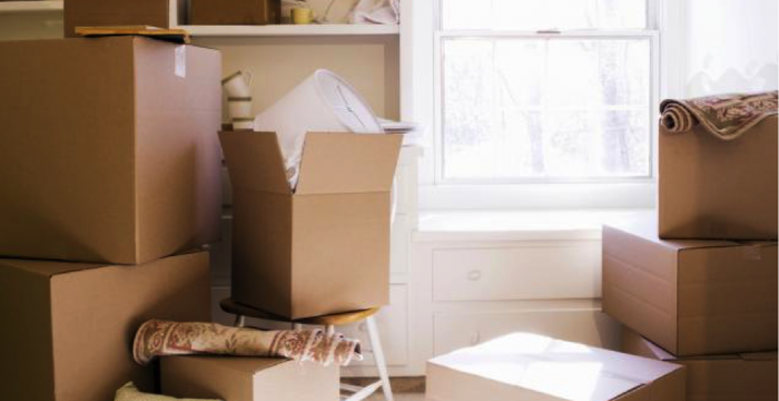 Decluttering  before moving house